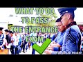 How to Pass the PMA Entrance Exam