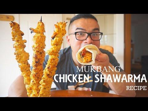QT| Chicken Shawarma Recipe | MUKBANG