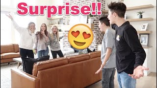 GiRLS SURPRiSE TWiNS! *They had NO idea!!