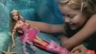 2006 º Barbie Fairytopia Mermaidia fairy-to-mermaid doll commercial