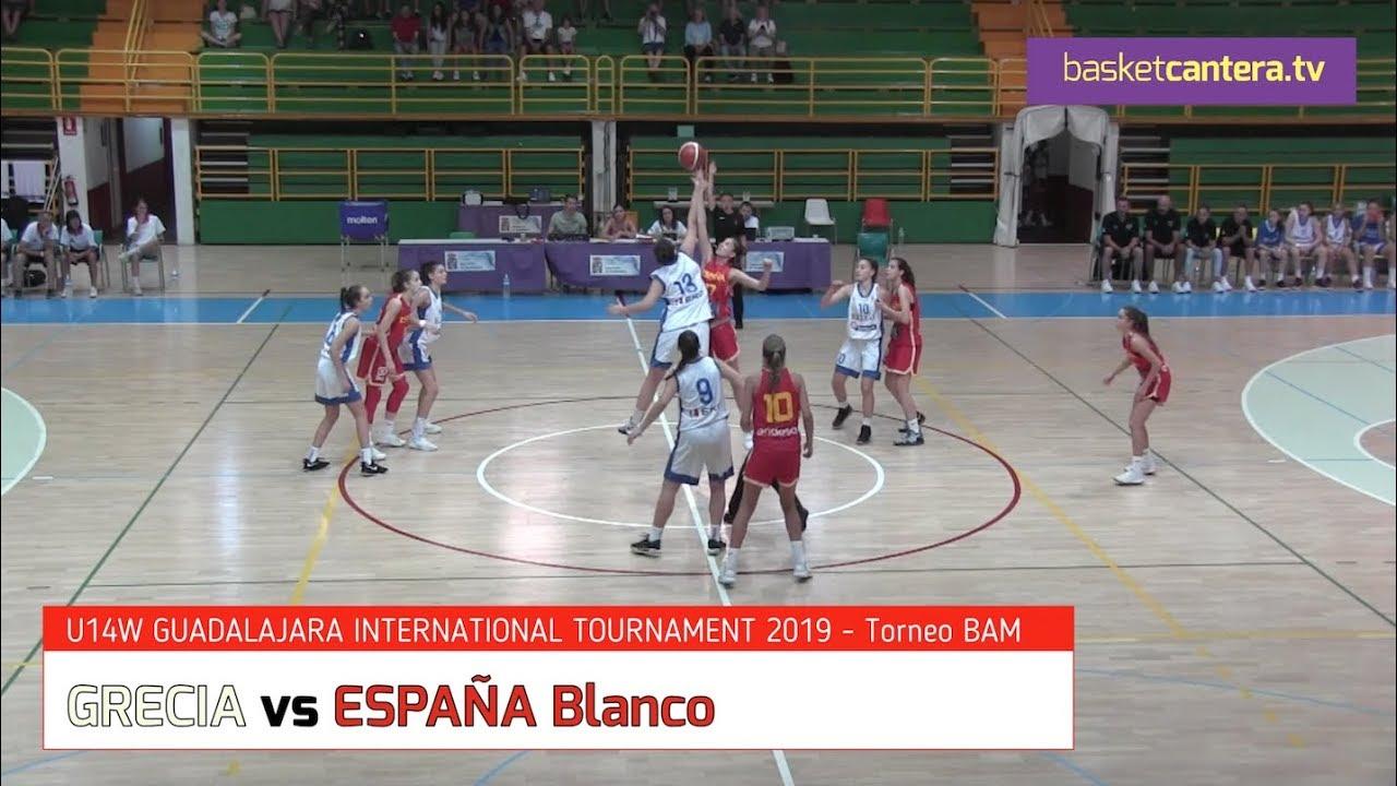 U14F - GRECIA vs ESPAÑA Blanco.- Torneo Internacional Infantil Fem. BAM 2019 (BasketCantera.TV)