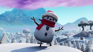 SNEAKY SNOWMAN DOING FORTNITE EMOTES!