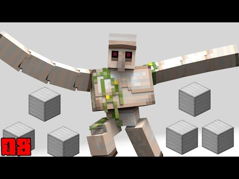 Minecraft: Pilhagem 10 X Iron Golem !! - Factions Fire OP 08 ‹ Alone ›