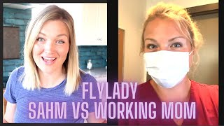 Full-Time Working Mom Using The FLYLADY SYSTEM | DAY IN THE LIFE