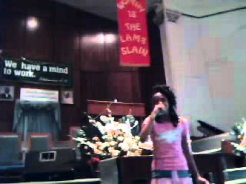 April Nevels daughter Courtney singing some Ol' Skool Church Music!