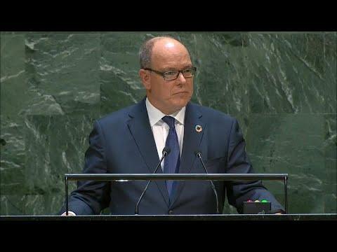 第74回国連総会一般討論演説(フランス語):モナコ公アルベール2世 ...