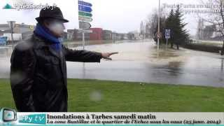preview picture of video '[TARBES] Des inondations à Tarbes ce samedi (25 janvier 2014)'