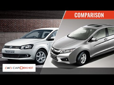 Honda City vs Volkswagen Vento | Video Comparison | CarDekho.com - Volkswagen Videos