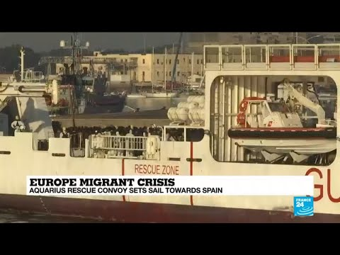 Aquarius rescue convoy sets sail towards Spain