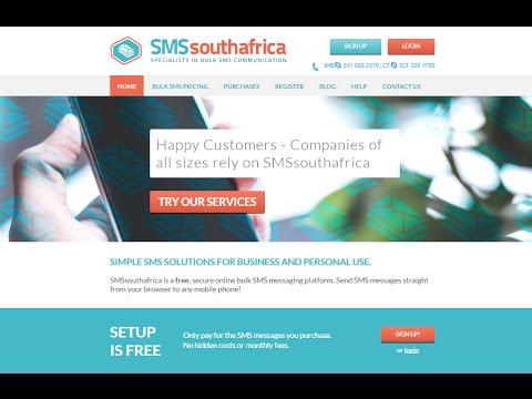 Bulk SMS South Africa   Training Tutorial Crash Course   Bulk SMS Software