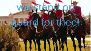 Canadian National Anthem-O Canada (with lyrics)