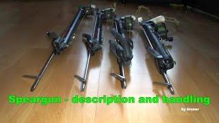 Kusza z naciągiem gumowym Speargun description and handling