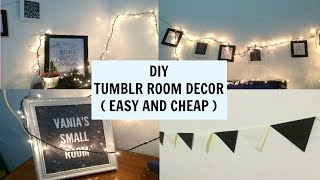 ♡ DIY TUMBLR ROOM DECOR INDONESIA | Elvia Vania ♡