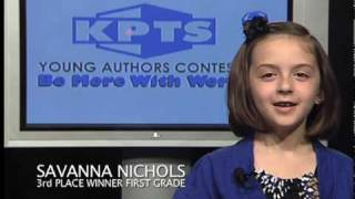 3rd Place, First Grade, 2010 Young Authors Contest (K-2nd Grades)