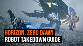 Horizon Zero Dawn - Every Robot Dinosaur and how to take them down!