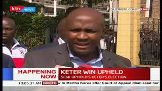 Nandi Hills MP Alfred Keter's win upheld