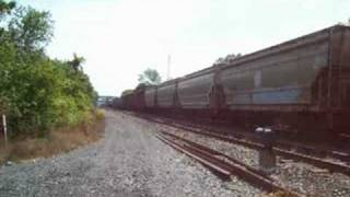 preview picture of video 'CSX 164 at Lyons, NY 08-23-08'