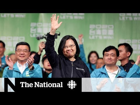 Taiwan president wins second term
