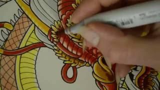 Chinese Dragon Marker Illustration