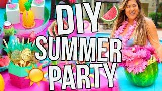 DIY SUMMER PARTY! Decor, Snacks, Treats & More!