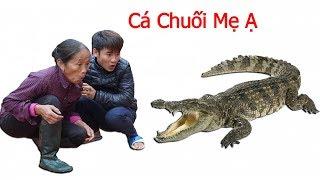 Hưng Vlog - Thách Mẹ Bà Tân Vlog Ăn Cá Sấu Khổng Lồ Trong 10 Phút