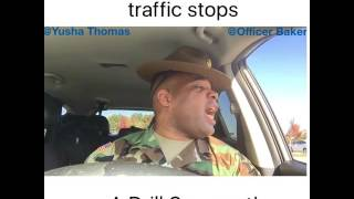 When a Police Officer traffic stops a Drill Sergeant! W/ Yusha Thomas