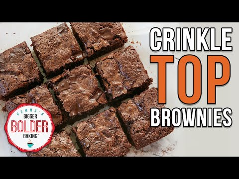 The Secret To Crinkle Top Brownies
