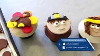 Cupcake para el Día de Acción de Gracias