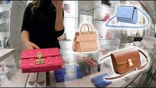 Dior, Celine & Givenchy Luxury Shopping Vlog Trying On Bags!😱 - Video Youtube
