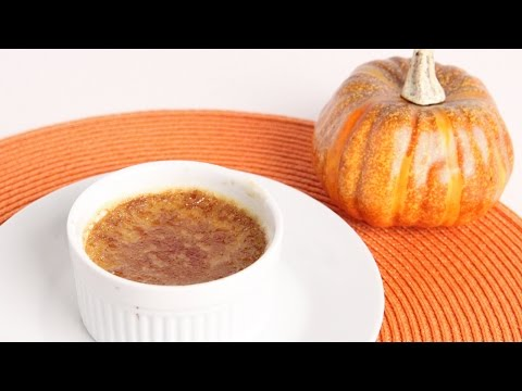 Pumpkin Creme Brulee Recipe – Laura Vitale – Laura in the Kitchen Episode 991