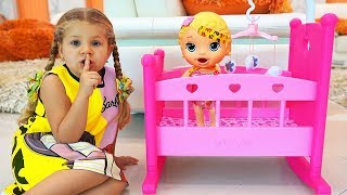 Diana Pretend Play with Baby doll and toys!