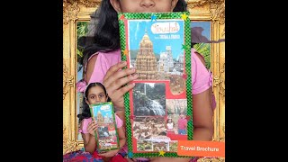How to make a travel Brochure ! Step by step, easy way!!School ideas