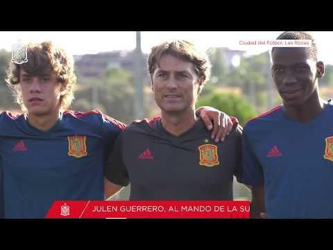 Julen Guerrero, al mando de la Selección Sub-16