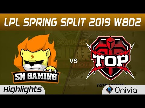 SN vs TOP Highlights Game 2 LPL Spring 2019 W8D2 Suning Gaming vs TopSports Esports by Onivia
