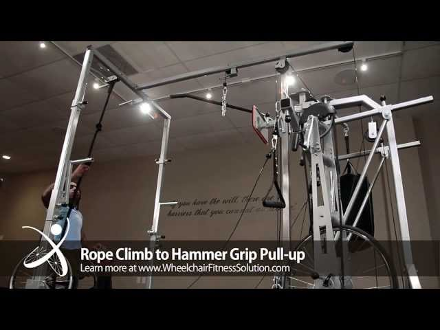 Wheelchair Fitness Solution | Exercise: Rope Climb to Hammer Grip Pull Up (14 of 40)