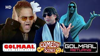 Best of Comedy Scenes Golmaal & Golmaal Returns   Sanjay Mishra - Arshad Warsi - Ajay Devgan