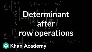 Linear Algebra: Determinant after row operations
