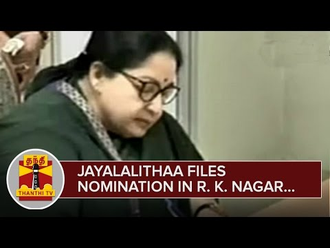 AIADMK-Supremo-Jayalalithaa-files-Nomination-for-Contesting-in-R-K-Nagar--Thanthi-TV