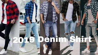Latest Stylish Denim Shirt For Mens 2019   Best 😎😎🤩 Collection Denim Shirt