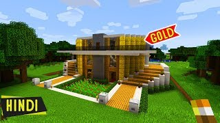 I MADE A MANSION OF *GOLD* in MINECRAFT