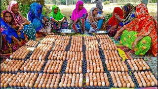 1,000 Eggs Cooking For Whole Village People - You Can't Guess What They Are Cooking Until Finish