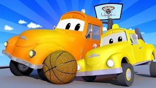 Odtahové auto pro děti - Malý jeřáb Charlie a Taxík Jeremy se zamotali Odtahové auto Tom