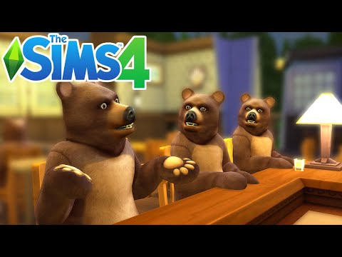 WHY ARE THERE BEARS AT THE BAR ?!? | THE SIMS 4