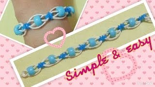 Simple & Easy Rainbow Loom Bracelet Tutorial簡易彩虹橡筋手繩