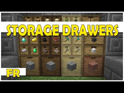 [FR] STORAGE DRAWERS MOD | Présentation | Mod Minecraft 1.7.10 / 1.8
