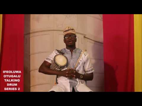How to create and play  rhythms on Talking drum.Lesson 2