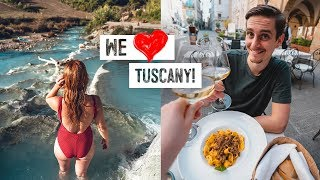 Incredible Spots in TUSCANY! Blue Thermal Baths + Trying Tuscan Pasta in Pitigliano!