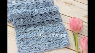 How To Crochet Lacy Scarf, Romantic Spring Scarf, Crochet Video Tutorial