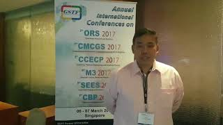 Prof. Marcus Agustin at ORS Conference 2017 by GSTF Singapore