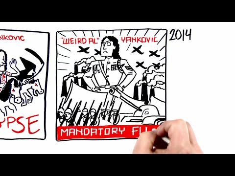 All 14 Weird Al Yankovic Album Covers as a Whiteboard Video
